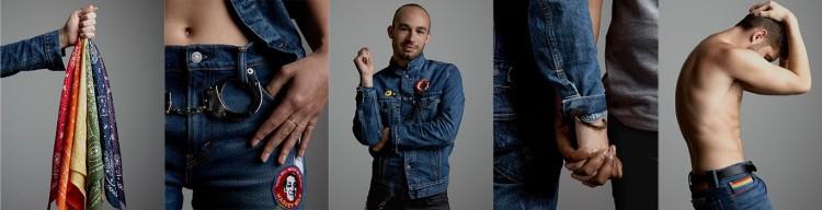 Imagens da campanha Global Pride 2016 da Levi's, que homenageia o ativista americano Harvey Milk.